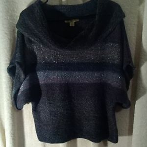 Pretty Nine West sparkling cowl sweater